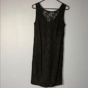 Little black vintage beaded dress